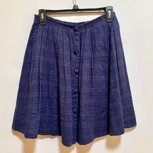 9-H15 STCL Anthropologie Navy Blue Skirt Sz S